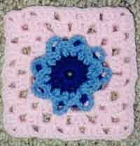 6 inch 3-D Flower Granny Square