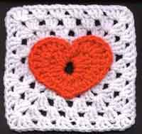 6 inch Jackies Heart Square