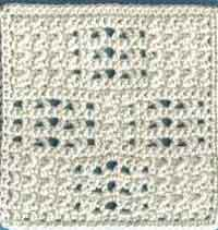 6 inch UpDown and Openwork Texture Afghan Square