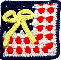 7       inch Yellow Ribbon Square