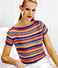 Striped Boat-Necked Pullover