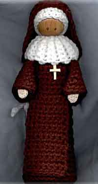 Crochet Nun Doll