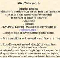 Doll Wristwatch