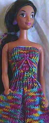 Barbies Rainbow Ball Gown
