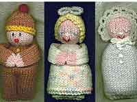 3 Knitted Dolls