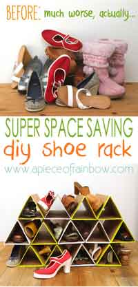 DIY Space Saving Shoe Rack