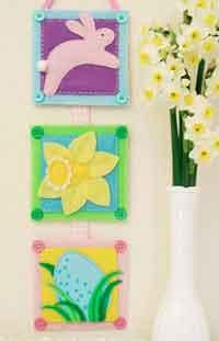 Easy Easter Embroidery Wall-Hanging