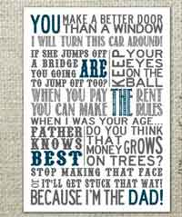 Fathers Day Subway Art Printable