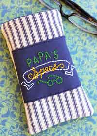 Embroidered Mens Eyeglass Case Sewing Tutorial