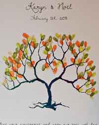 Download Your Wedding Fingerprint Tree