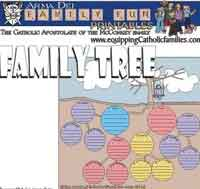 Free printable for Family Tree
