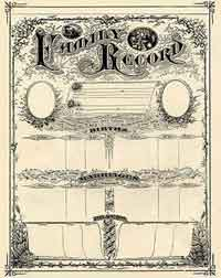 Printable Family Record Certificate