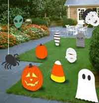 halloween wood lawn figures