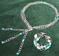 Beaded Chain Belt and Bracelet