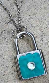 Tiffany Inspired Lock Necklace