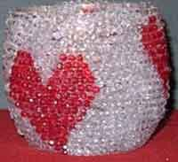 Beaded Heart Candleholder