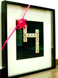 Homemade Scrabble Tiles Names Art Tutorial