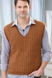 Mens Basketweave Vest