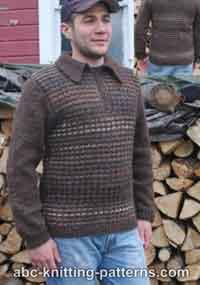 Noro Yarn Men Zipper Sweater