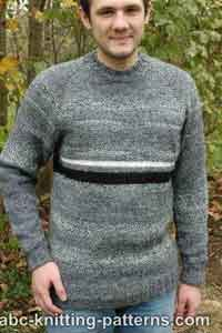 Mens Top Down Raglan Sweater