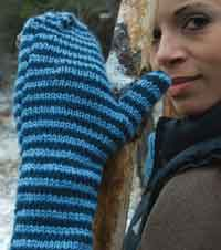 Liberty stripes Mittens