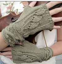 Sourwood Mountain Fingerless Mittens
