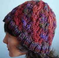 Kaya Cabled Bi-Color Hat