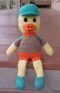 Baby Daisy Duck ~ Crochet , Knit Afghan Pattern