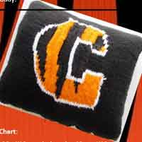 C is for Carson Bengals Football Pillow