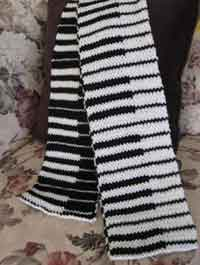 Double Knit Piano Scarf