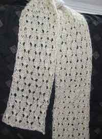 Dewdrop Simple Lace Scarf