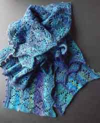 Lace Knit Lengthwise Scarf