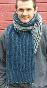 Two-Color Brioche Scarf