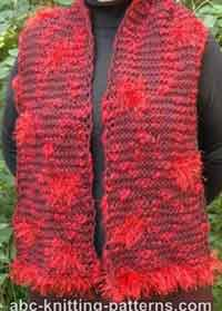 Fun Fur Polka Dots Garter Stitch Scarf