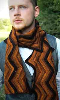 Creekbed Chevron Scarf