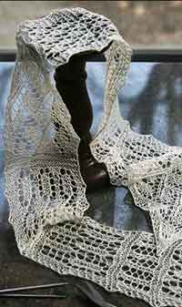 Miss Lamberts Lace Sampler Scarf