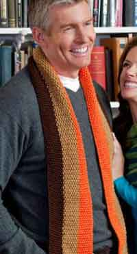 Lengthwise Strip Dad Scarf