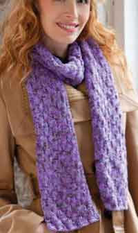 Shimmer Knit & Purl Scarf