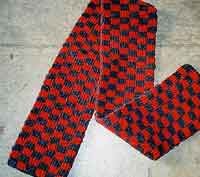 Checkered Double Knit Scarf