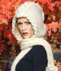 Winter Scarbon Hood-Scarf