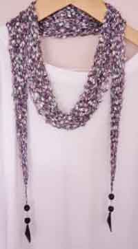Ladder Ribbon Long Scarf