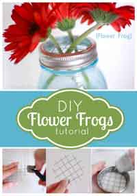 DIY Mason Jar Flower Lids