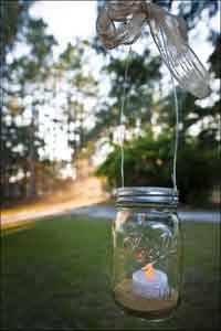 How to make hanging Mason Jar tealight holders