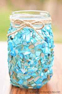 Beach Inspired Mason Jar