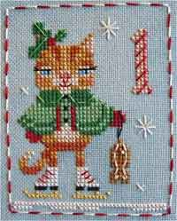 Animal Advent Cross Stitch Pattern
