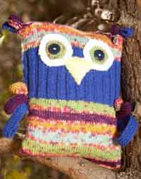 how to knit an owl pillow