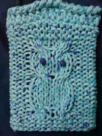 owl book cover knitting pattern