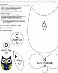 photo relating to Owl Printable Template titled Around 200 Cost-free Owl Crafts Sewing Crochet Knitting and Additional at