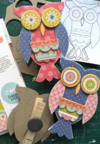 Ozzie the owl chipboard