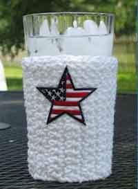 Patriotic Crochet Cup Cozy